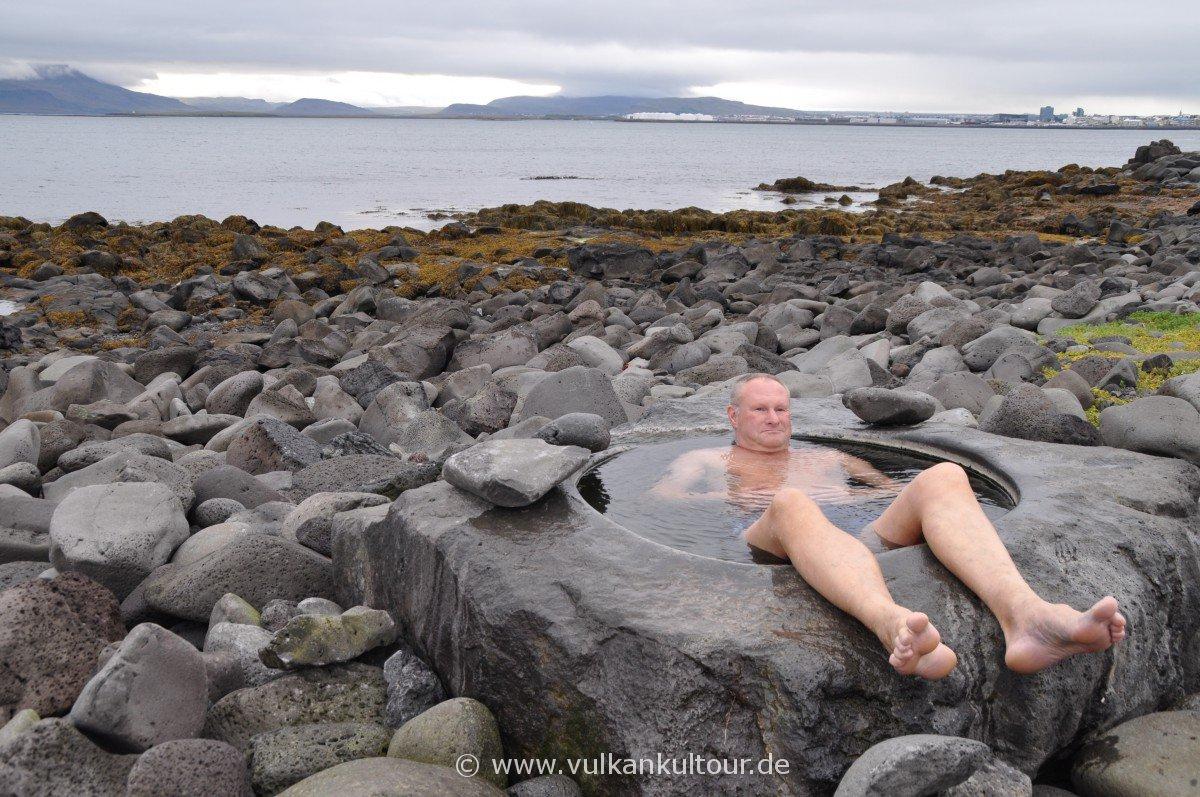 eigentlich ein Fußbad in Reykjavík... :-)
