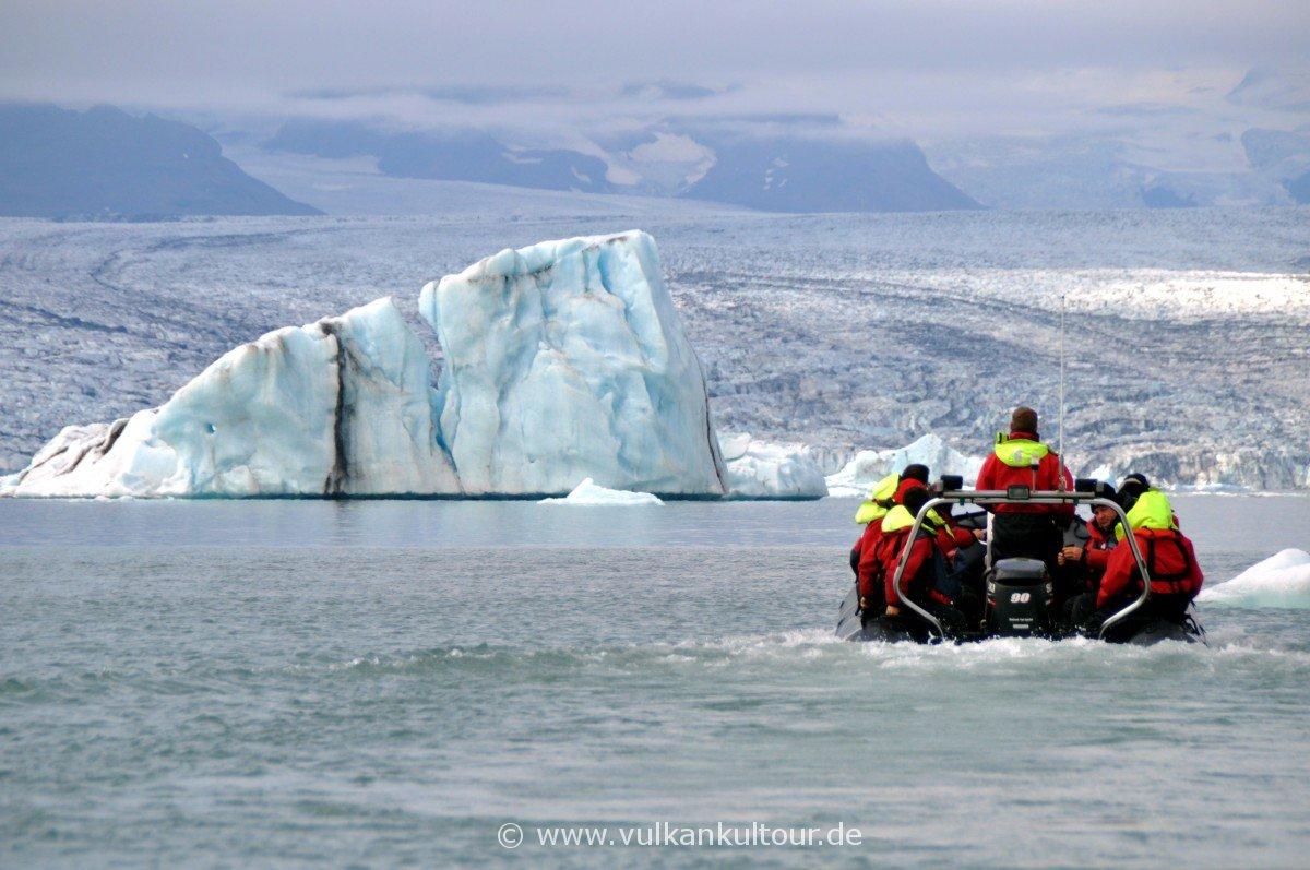 Zodiacfahrt auf der Gletscherlagune Jökulsárlón