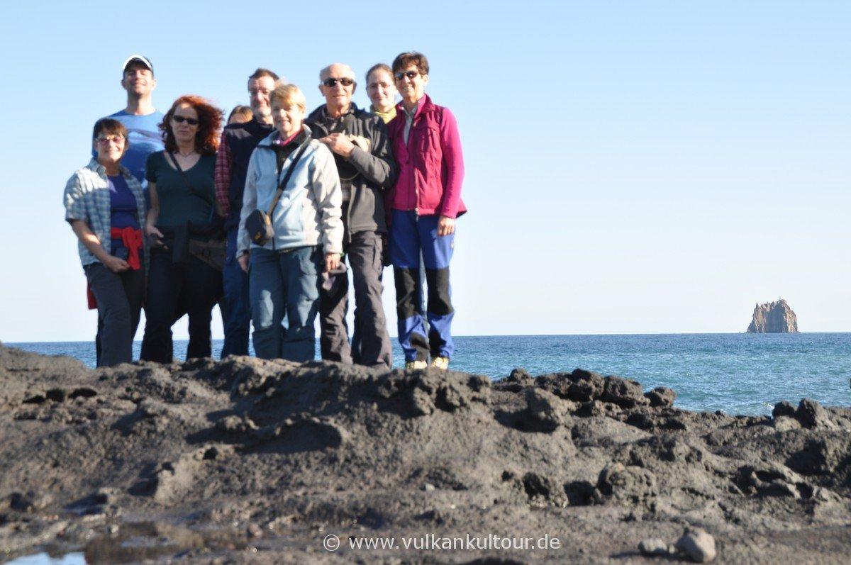 Reisegruppe mit Strombolicchio