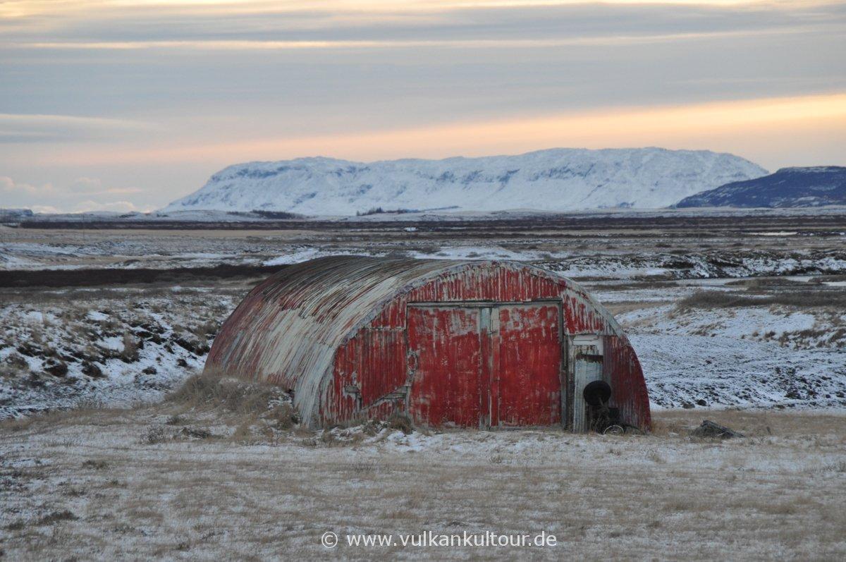 Schafstall - isländische Winterimpressionen