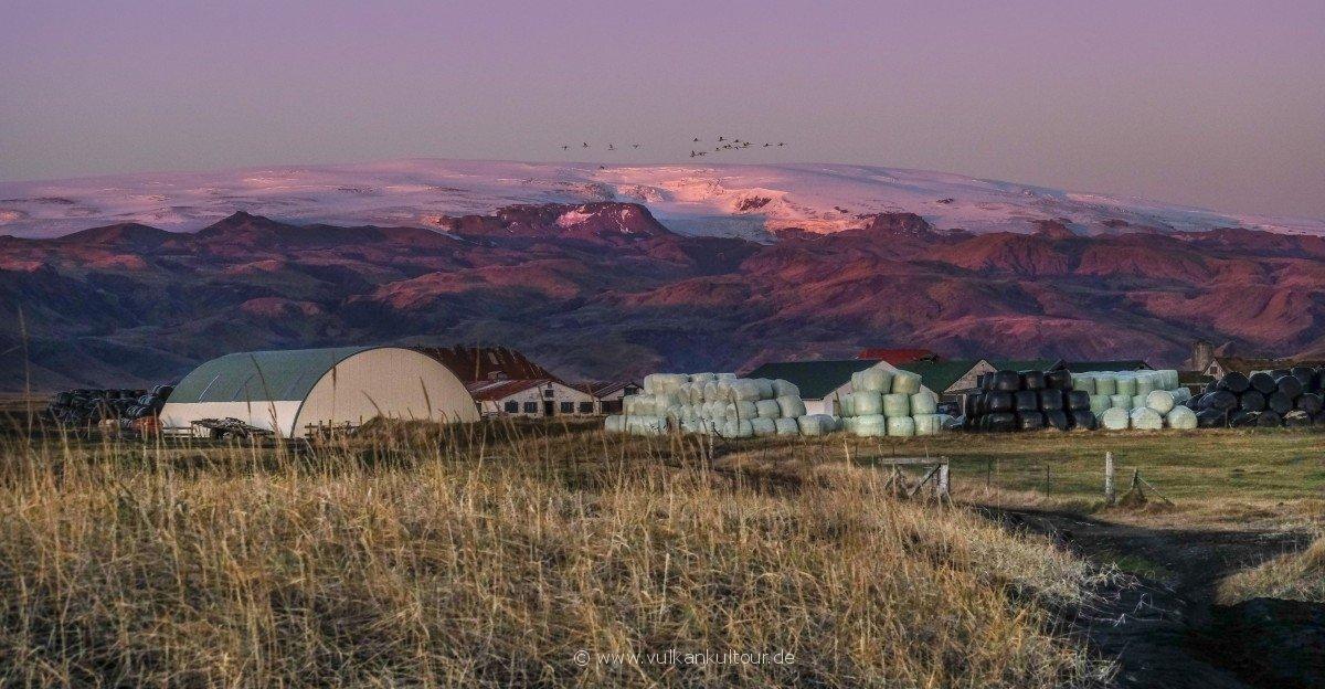 Abendröte auf dem Mýrdalsjökull