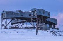Das Weichengebäude, Wahrzeichen Longyearbyens
