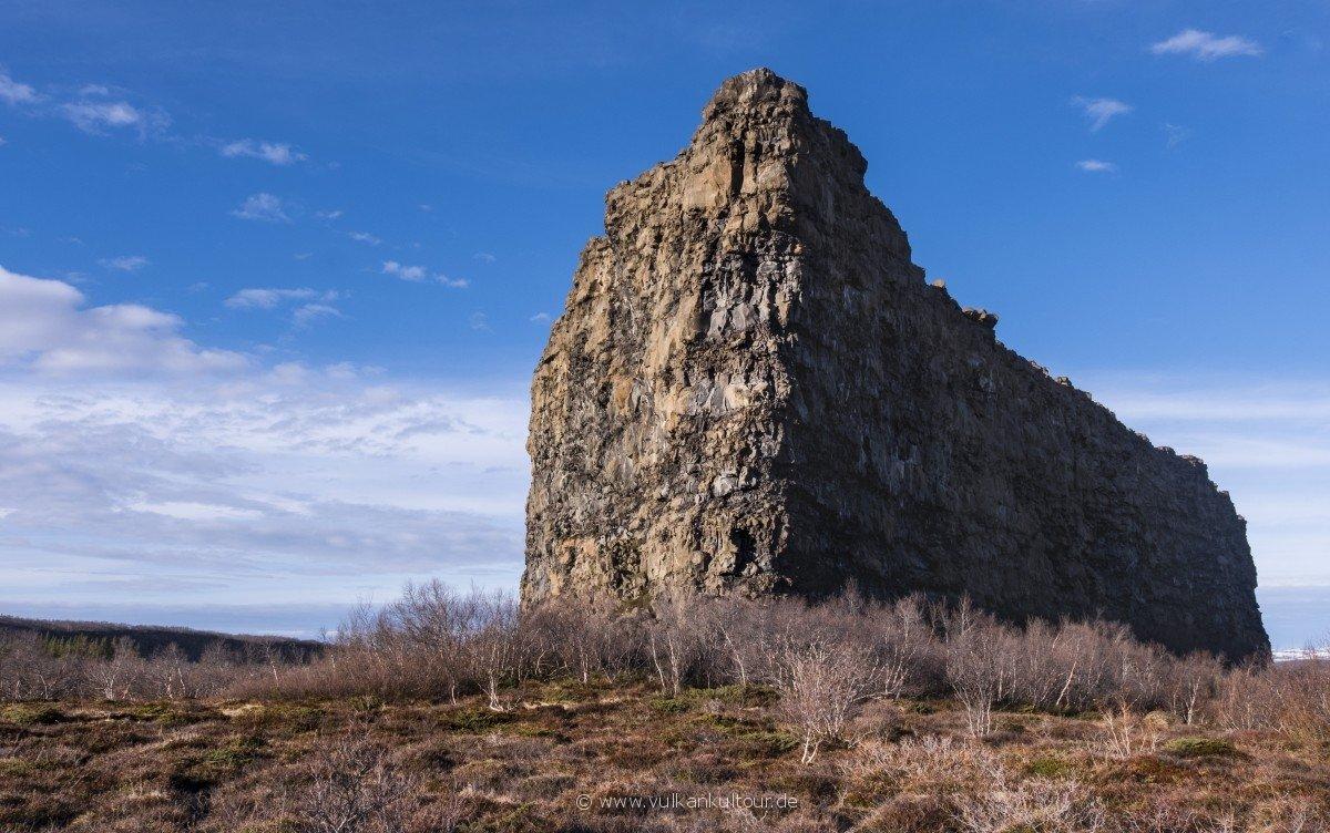 Felsklotz im Ásbyrgi-Canyon
