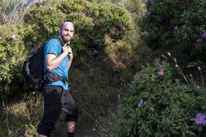 Markus auf dem alten Weg zum Stromboli hoch