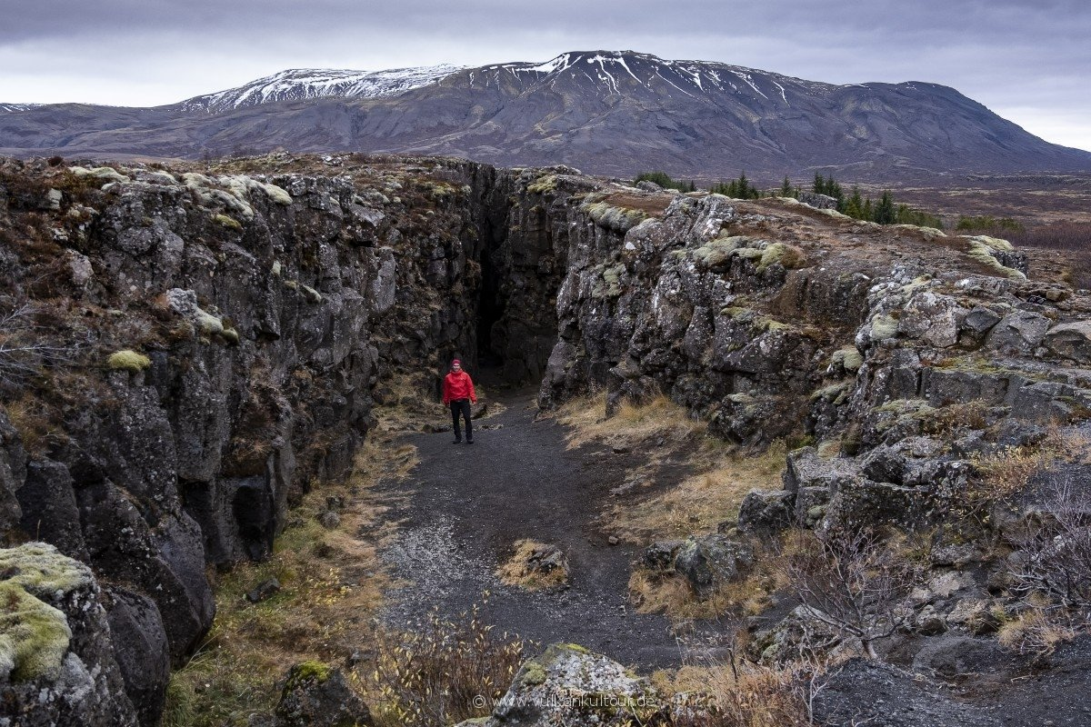 Tektonische Spalte im Þingvellir