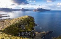 Hoch über dem Norðurfjörður (Westfjorde)