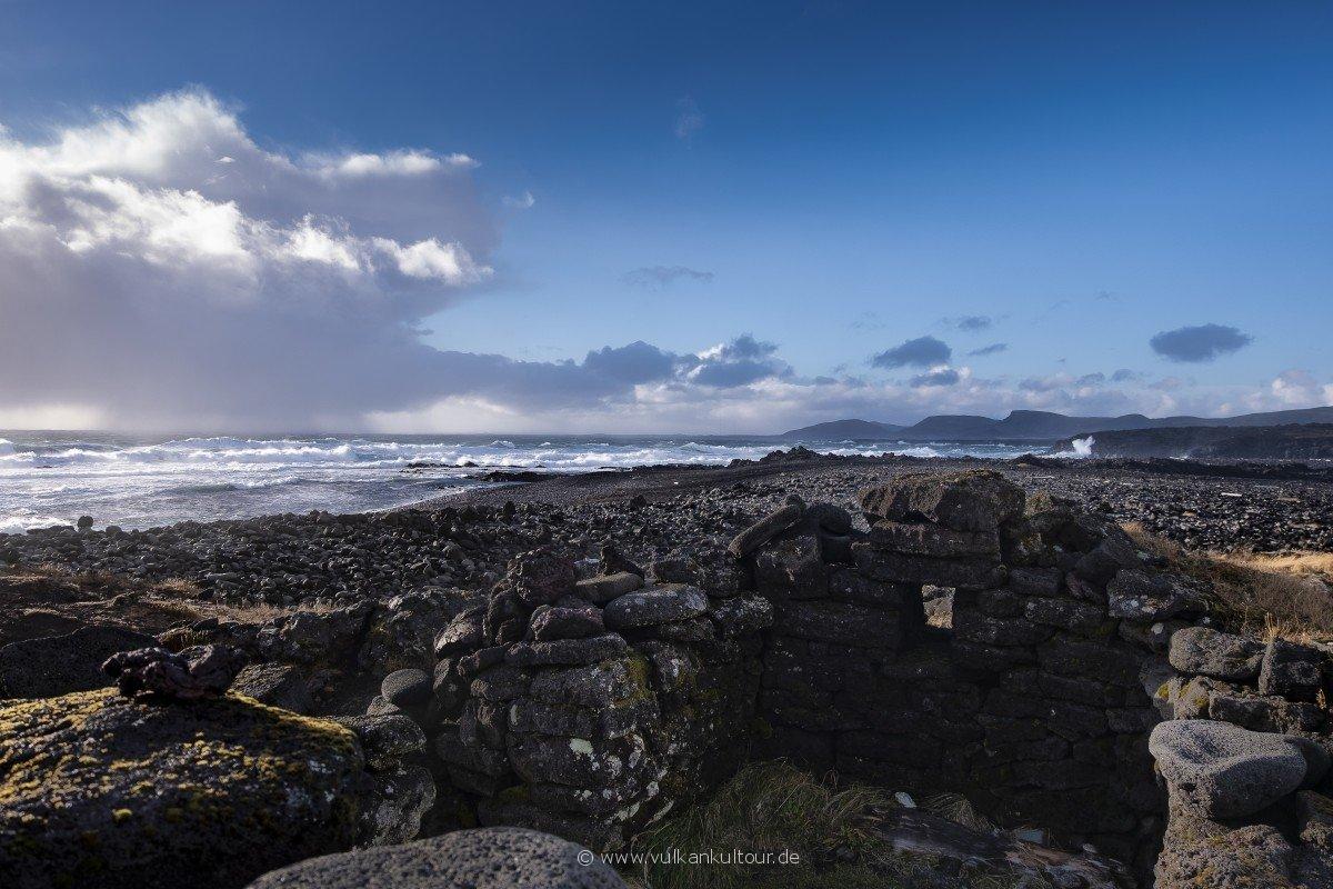 Selatangar - verlassenes Fischerdorf an der Südküste von Reykjanes
