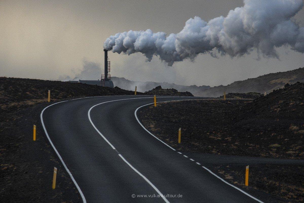 Das Geothermalkraftwerk Reykjanesvirkjun