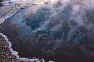 Heiße Quelle Blesi im Haukadalur