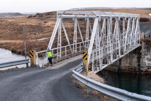 Tolle alte Brücke nahe Gullfoss