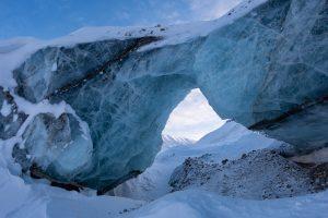 Am Rabotbreen-Gletscher