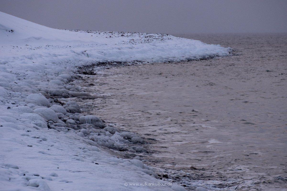 Svalbard = kalte Küste
