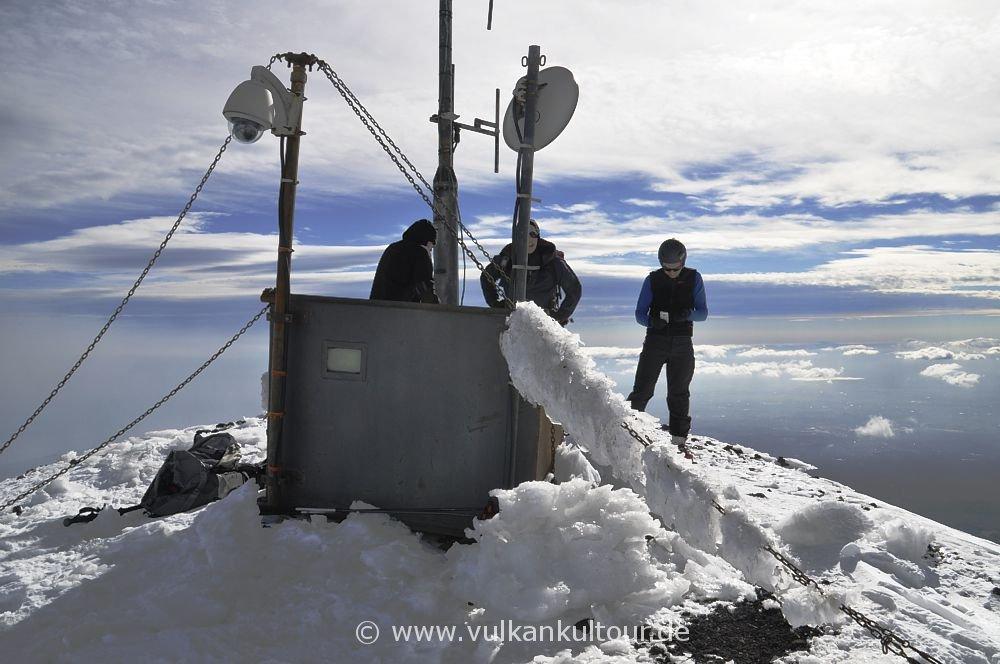 Ätna Skitour Schiena dell' Asino Montagnola