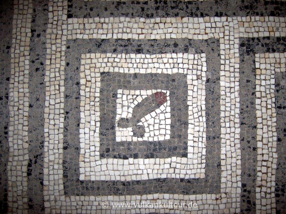 Phallusmosaik in Herkulaneum