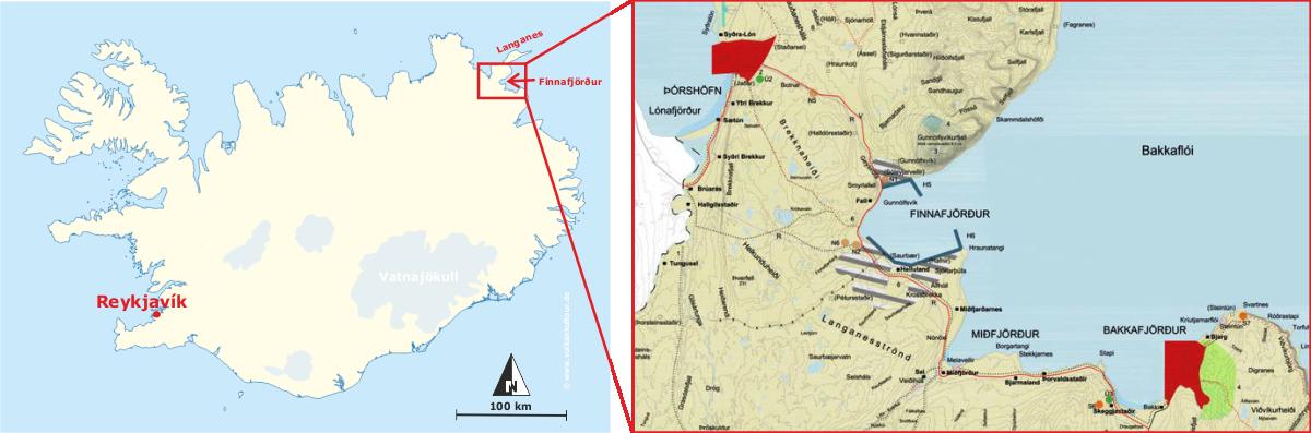 """Geplante Lage des """"Riesenhafens"""" (isl. """"Risahöfn""""), Quelle Detailkarte: Vísir (http://www.visir.is/g/2018180909435)"""