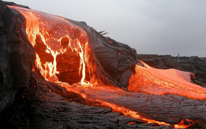 Hawaiianische Eruption (Bildquelle: Wikimedia Commons)
