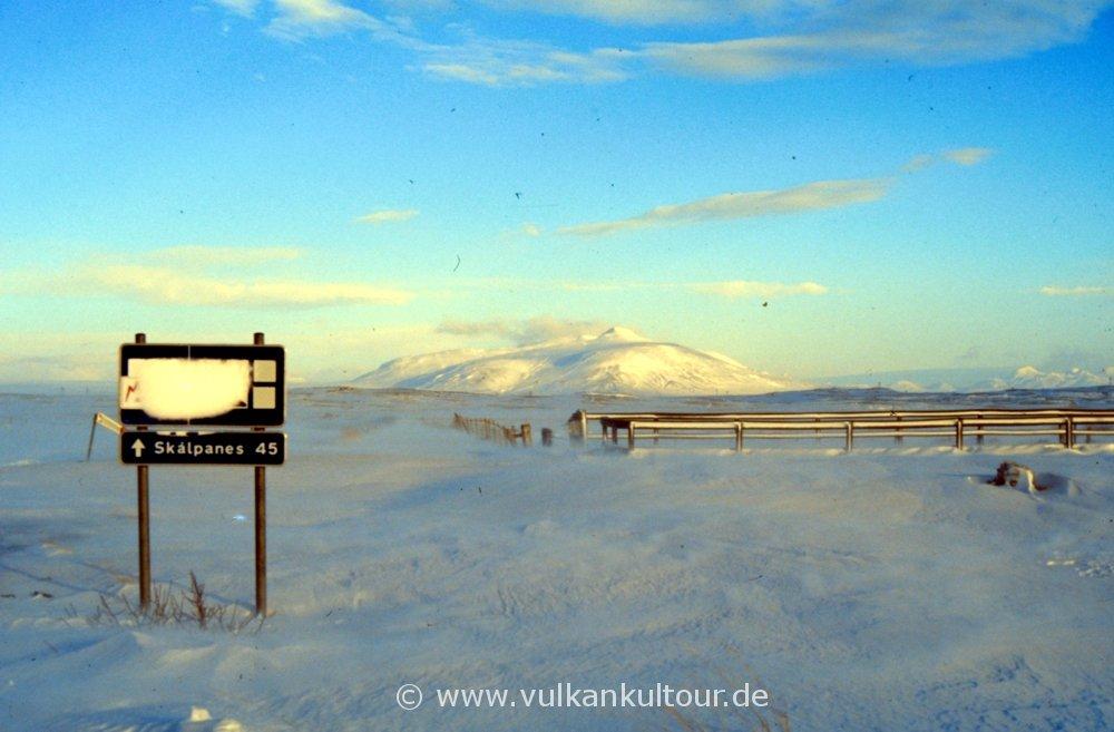 Stürmischer Winter in Island