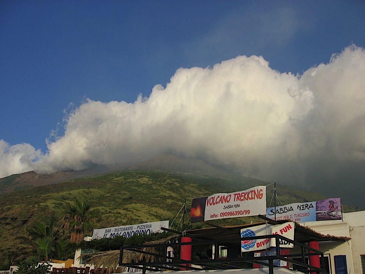 Imposante Wetterfront (kurz danach Regen im Juli!)