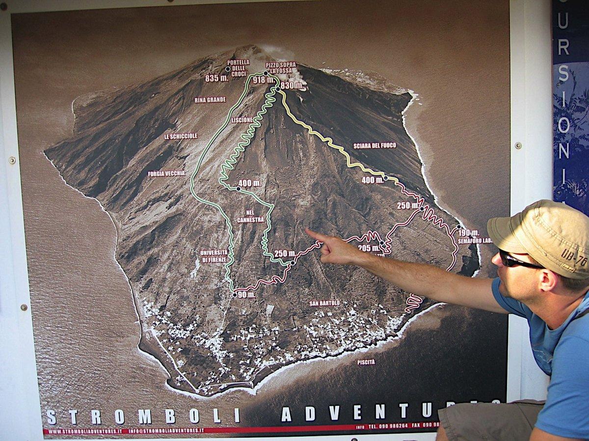 Florian beschreibt die Aufstiegsroute