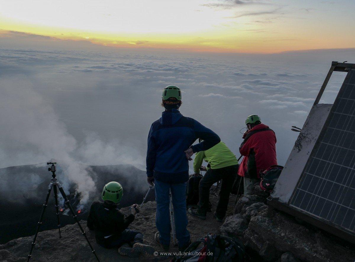Stromboli - am Gipfel