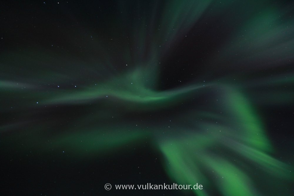 Polarlichter über Hvammsgerði (© Dr. Florian Glass)