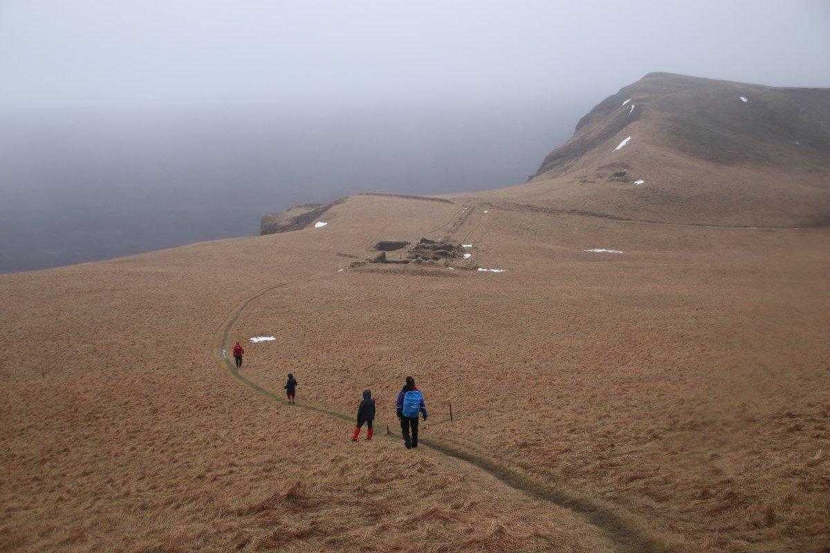 Winterwanderung auf den Hjörleifshöfði