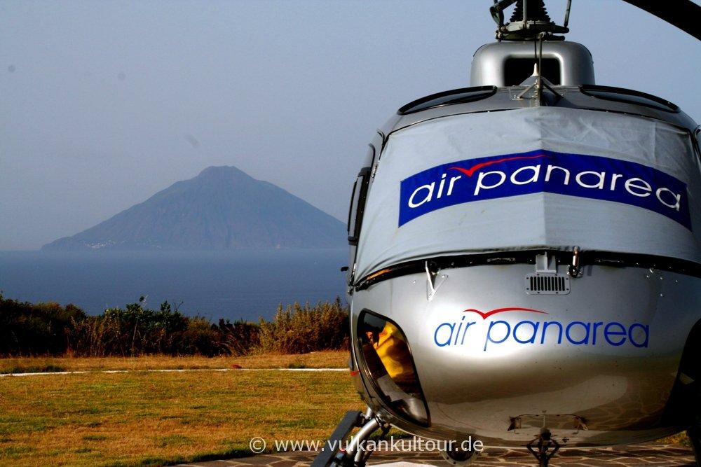 Mit Air Panarea zurück zum Stromboli