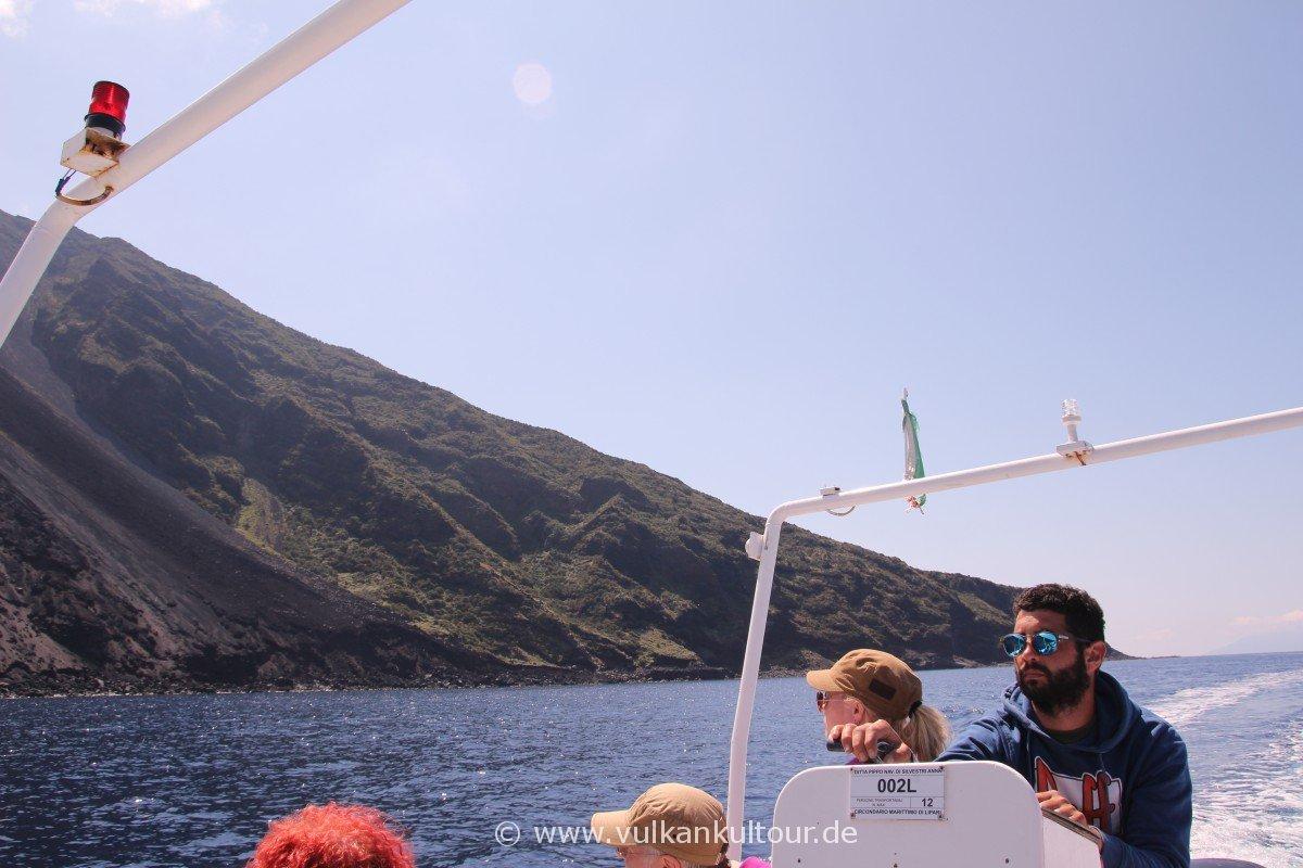Stromboli - Inselrundfahrt mit Giovanni als Entspannungsprogramm nach dem Aufstieg