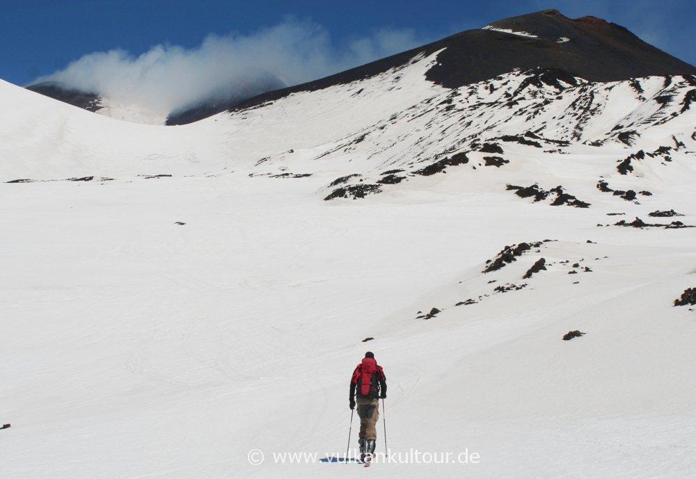 Skitour zu den Gipfelkratern des Ätna