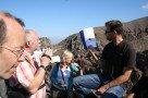 Geologiestunde mit Florian Becker (am Kraterrand des Vesuv)