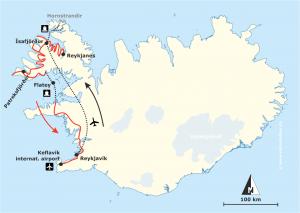 Reiseroute Island Westfjorde