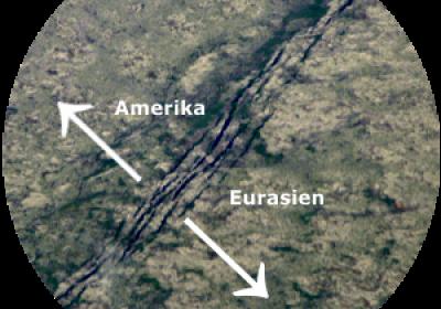 Island - Grabenbruch (Tektonische Grenze zwischen den Kontinentalplatten)