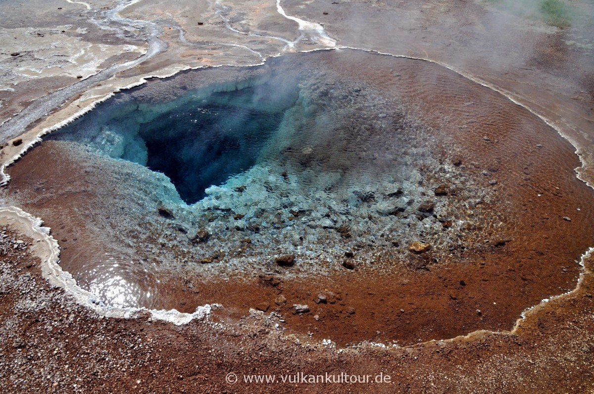 Heiße Quelle Blesi im Haukadalur-Geothermalgebiet