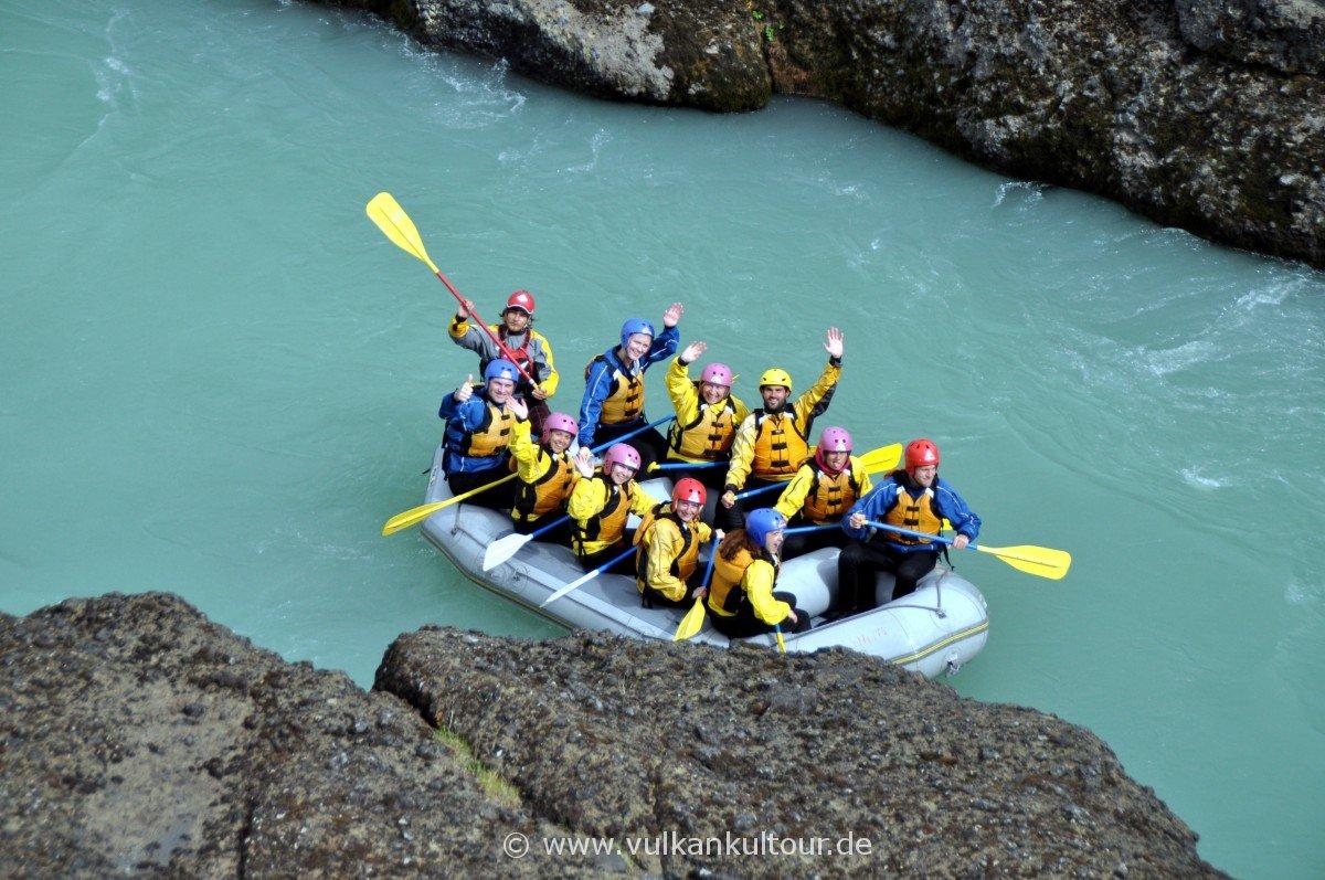 Rafting auf der Hvitá