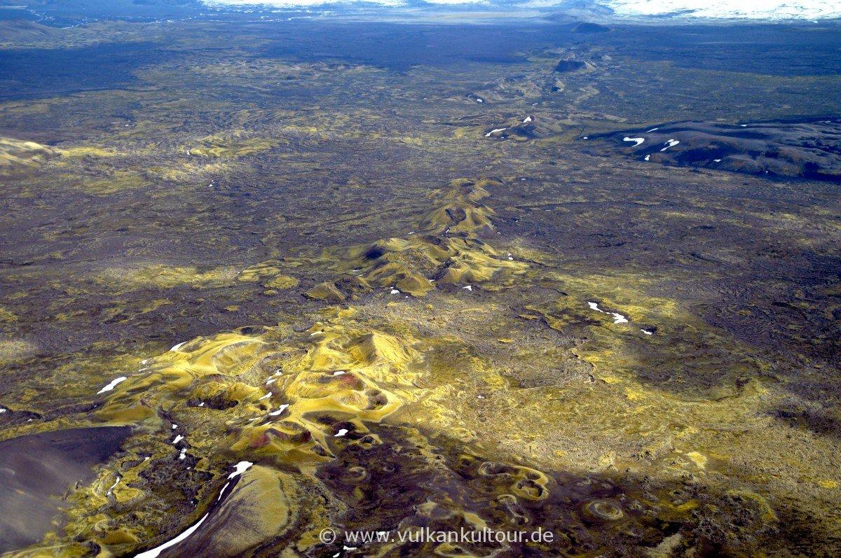 Der nördliche Teil der Laki Linearkraterreihe