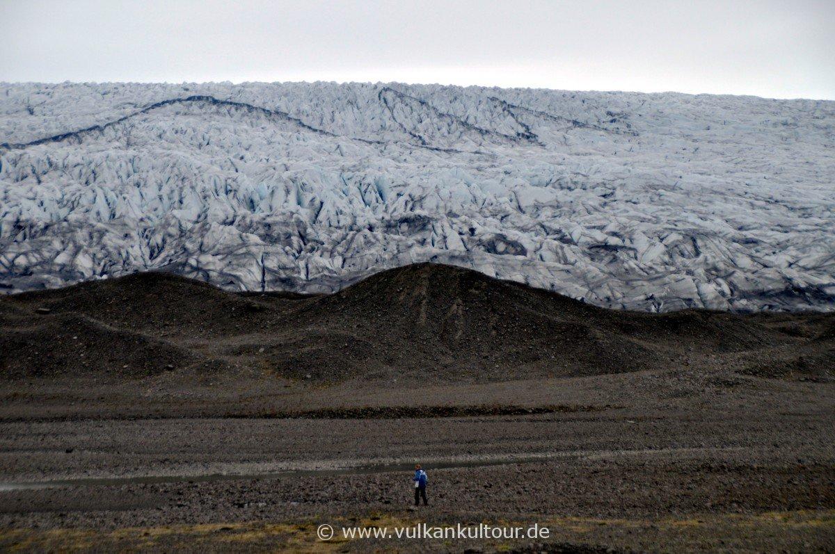 Gletscherzunge des Fláajökull