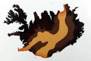 Aktive Vulkanzone in Island (Tektonische Grenze Nordamerika / Eurasien)