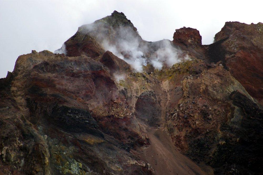Stromboli Kraterwand