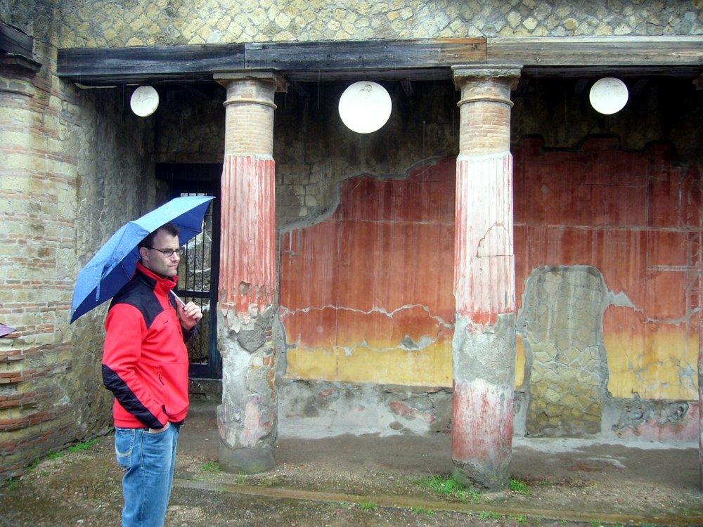 Regen in Pompeji (© Martin Pachaly)