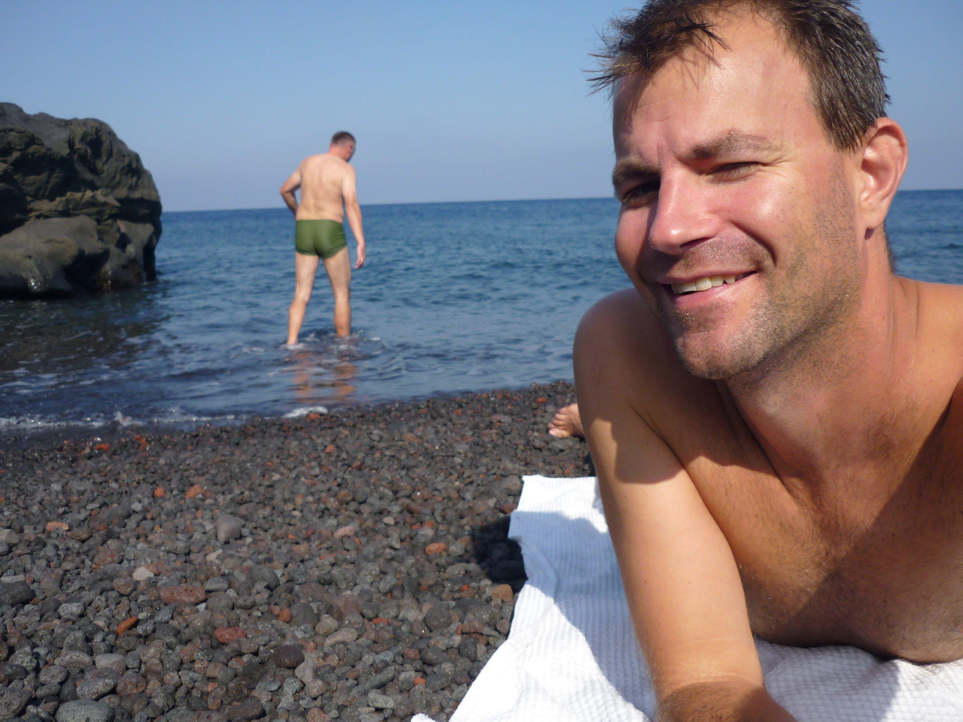 Stromboli Uwe und Florian Spiaggia Lunga