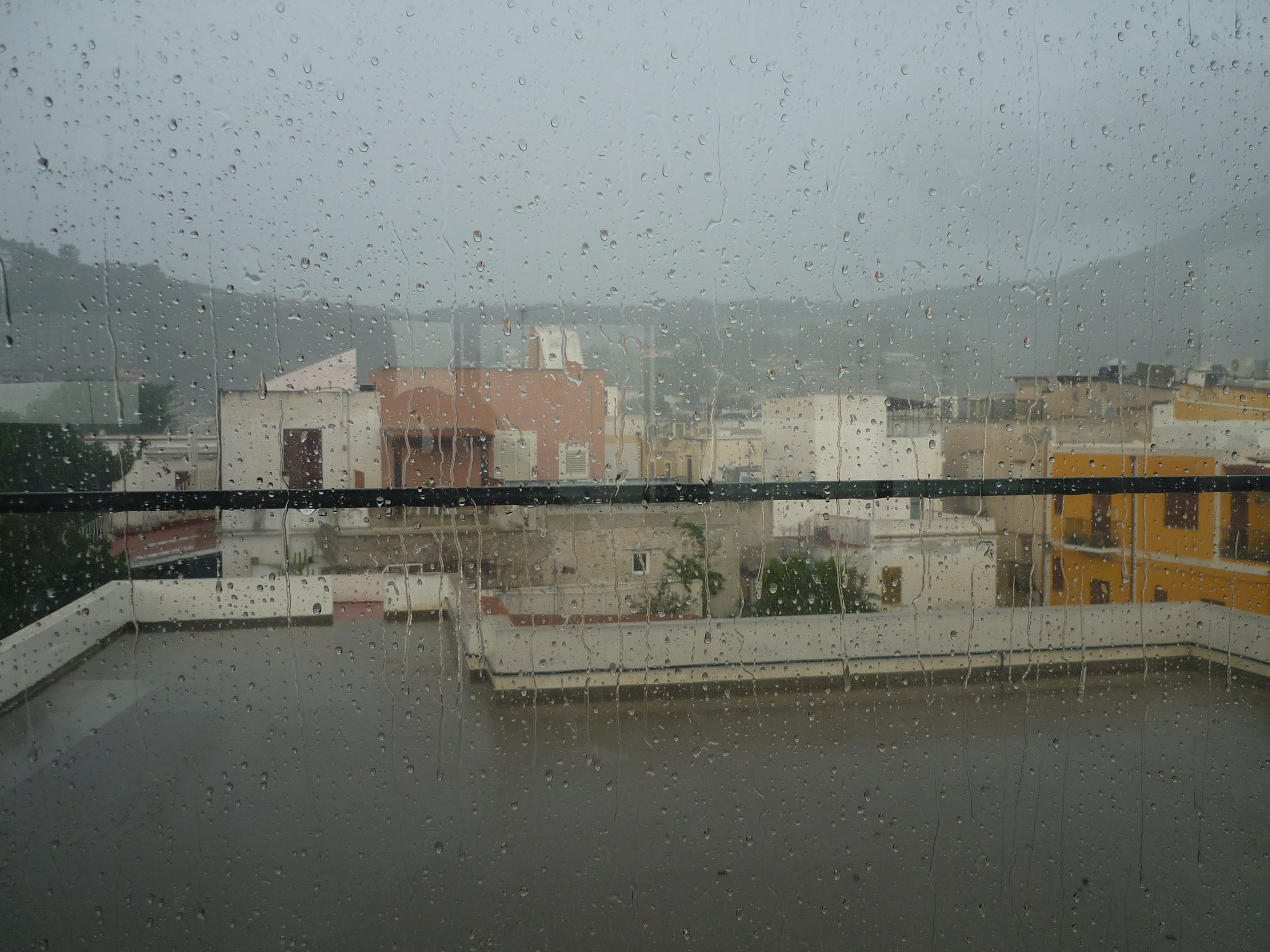 Unwetter über Lipari