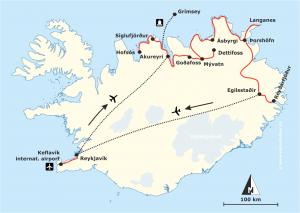 Reiseroute Nordisland