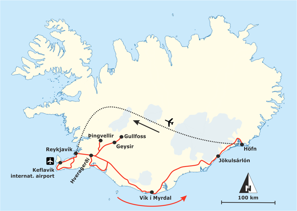 Route Island Südisland