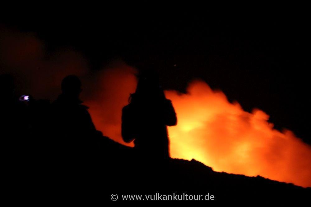 Am Kraterrand von Stromboli