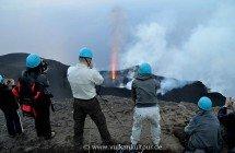 Am Gipfel des Stromboli - Blick auf die aktiven Vulkankrater