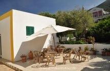 Stromboli - Innenhof unserer Pension