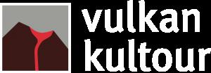 Logo Vulkankultour invers (dunkler Hintergrund)