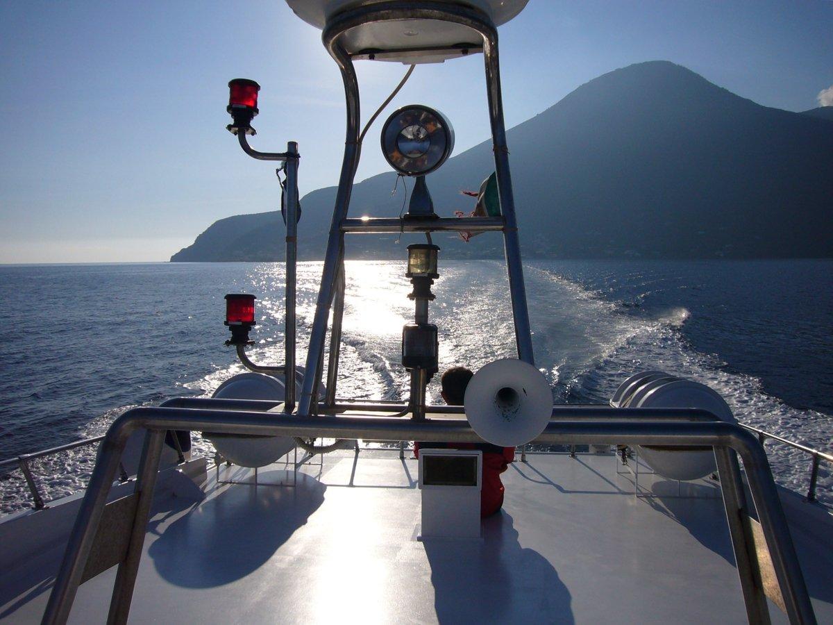 Abschied von Salina und Fahrt zurück nach Lipari (© Monika und Uwe Hildebrandt)