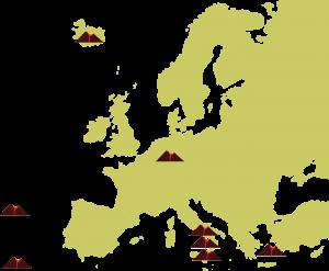 Unsere Reiseziele: die Vulkangebiete Europas