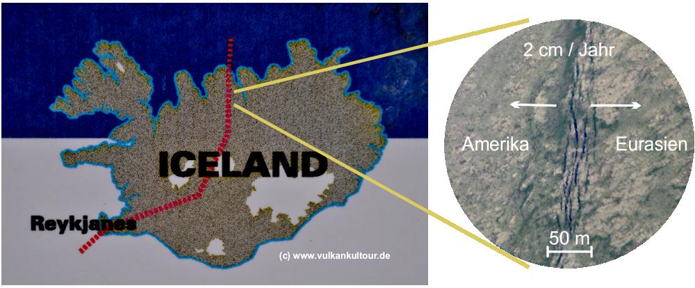 Mittelatlantischer Grabenbruch auf Island
